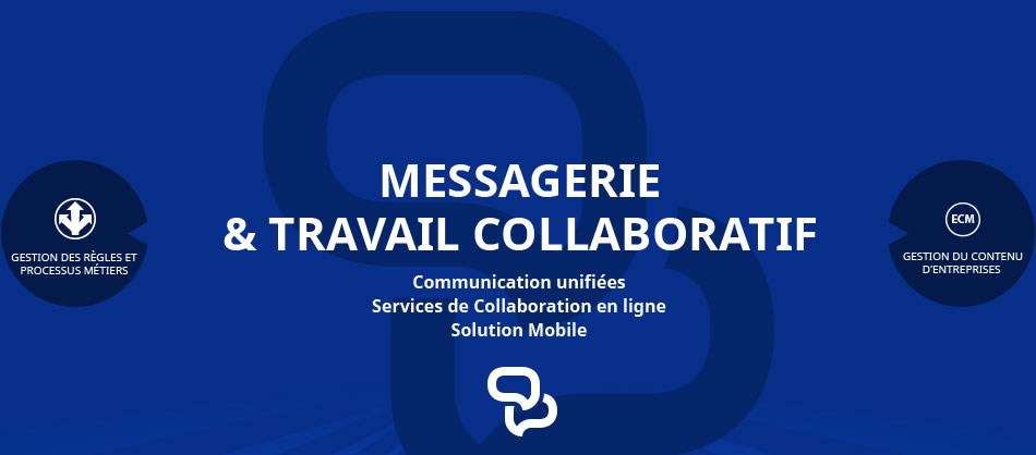 Messagerie et travail collaboratif, communication unifiée, service de collaboration en ligne - solution mobile